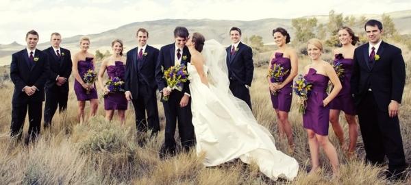 goście weselni na fotografiach ślubnych